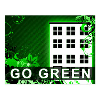 go green : hi-fi building postcard
