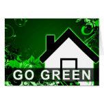 go green : hi-fi home greeting card