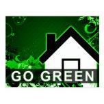 go green : hi-fi home postcard