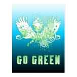 go green : hi-fi tree postcard