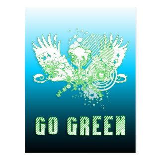 go green : hi-fi tree postcard