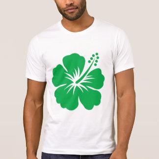 Go green hibiscus flower t shirt