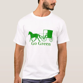 Go Green, horse and buggy T-Shirt