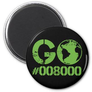 Go Green HTML RGB 2 Inch Round Magnet