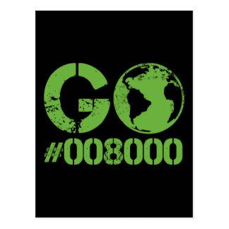 Go Green HTML RGB Postcard