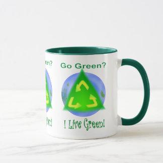 Go Green? ... I Live Green! Mug