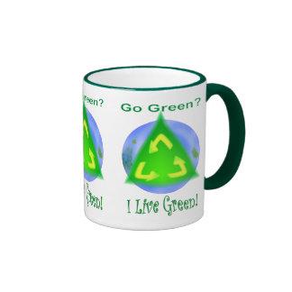 Go Green? ... I Live Green! Coffee Mugs