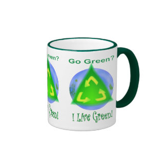 Go Green? ... I Live Green! Ringer Coffee Mug