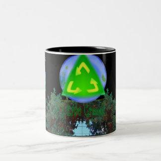 Go Green? ... I Live Green! Two-Tone Coffee Mug