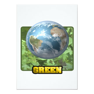 "Go Green 5"" X 7"" Invitation Card"
