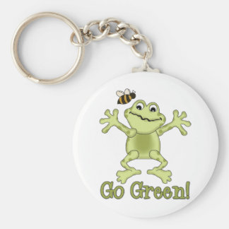 Go Green Jumping Frog and Bee Keychains