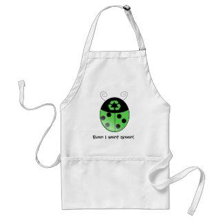 Go green!, ladybug apron