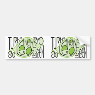 Go Green Leaf Bumper Sticker