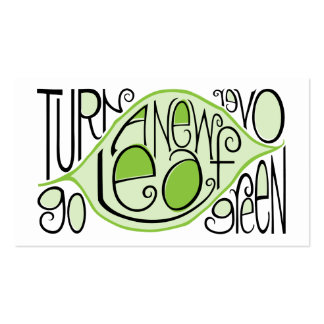 Go Green Leaf Profile Card Double-Sided Standard Business Cards (Pack Of 100)