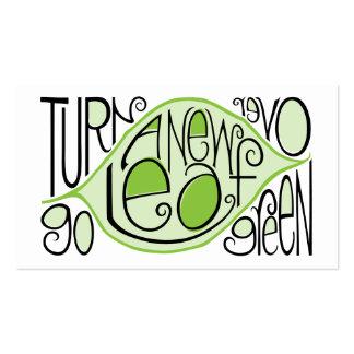 Go Green Leaf Profile Card Business Cards