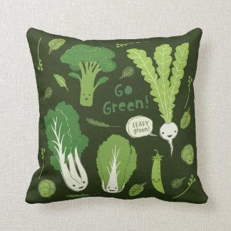 Go Green! (Leafy Green!) Cute Veggies Pillow