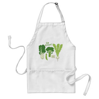 Go Green! (Leafy Green!) Happy Garden Veggies Adult Apron