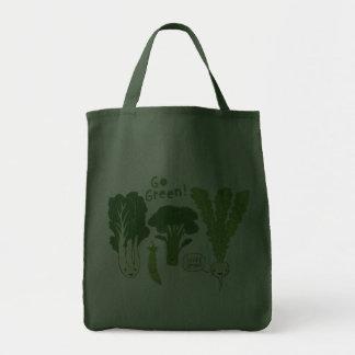 Go Green! (Leafy Green!) Happy Garden Veggies Tote Bags