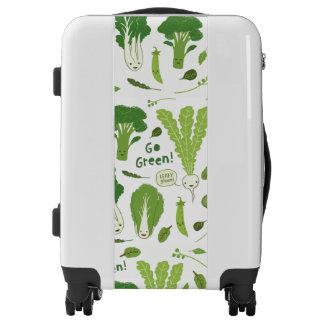 Go Green! Leafy Green! Happy Garden Veggies Luggage