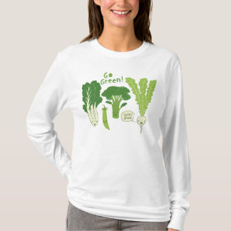Go Green! (Leafy Green!) Happy Garden Veggies T-Shirt