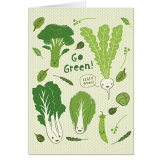 Go Green! (Leafy Green!) Healthy Garden Veggies Card