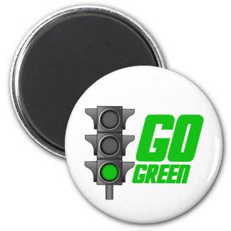Go Green Light 2 Inch Round Magnet