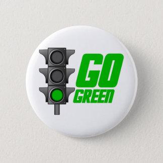 Go Green Light Pinback Button
