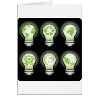 Go Green Lightbulbs Greeting Cards