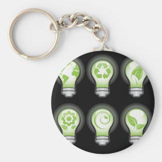 Go Green Lightbulbs Key Chains