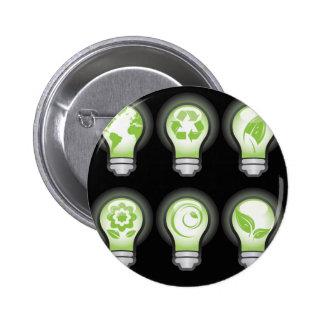 Go Green Lightbulbs Pins