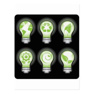Go Green Lightbulbs Post Card
