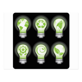 Go Green Lightbulbs Post Cards