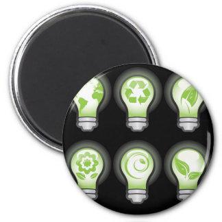 Go Green Lightbulbs Refrigerator Magnets