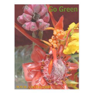 Go Green Live Green Postcard