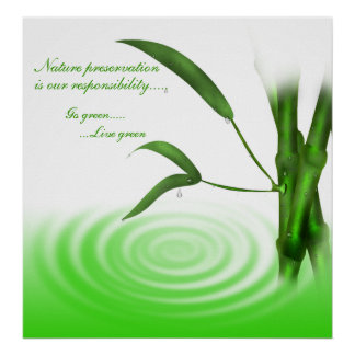 Go Green Live Green Poster Print