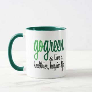 Go Green Live Happier Mug