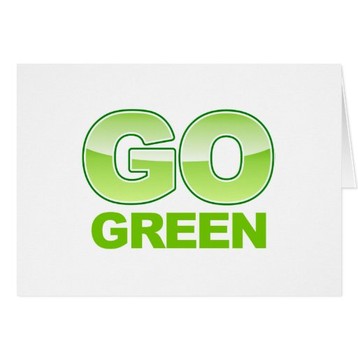 Go Green Logo Greeting Card