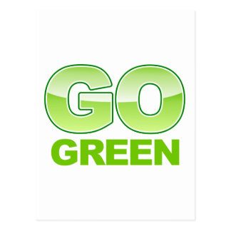Go Green Logo Postcard