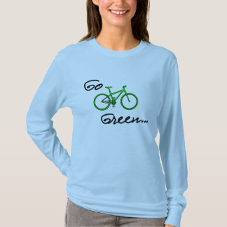 Go Green - Long Sleeve Bicycle T Shirt