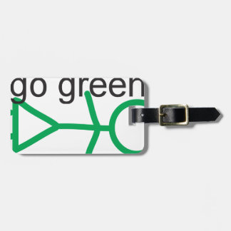 Go Green Luggage Tag