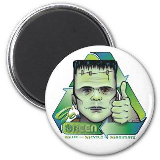 Go Green 2 Inch Round Magnet