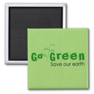 Go Green! Refrigerator Magnets
