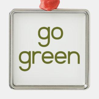 Go Green Metal Ornament