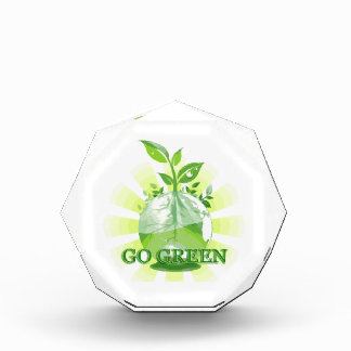 GO GREEN multiple products selected Acrylic Award