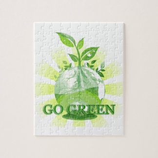 GO GREEN multiple products selected Jigsaw Puzzles
