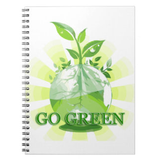 GO GREEN multiple products selected Spiral Notebook