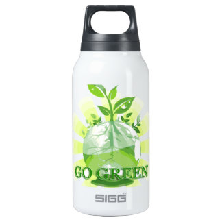 GO GREEN multiple selected 10 Oz Insulated SIGG Thermos Water Bottle