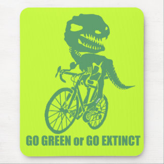 Go green or go extinct mouse pad