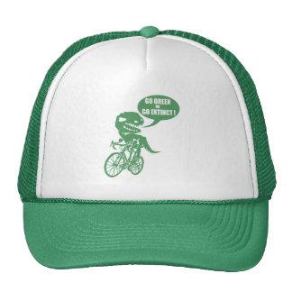 Go green or go extinct trucker hat