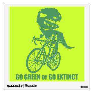 Go green or go extinct wall sticker